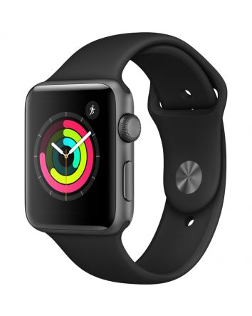 Apple Watch 3 Refurbished, 42 mm, 8 GB, GPS, Space Gray